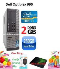Máy tính để bàn Dell optiplex 990 Core i3 RAM 2 GB HDD 250GB , Bảo hành 24 tháng , Tặng chuột không dây ,bàn di chuột – Hàng nhập khẩu (Xám)