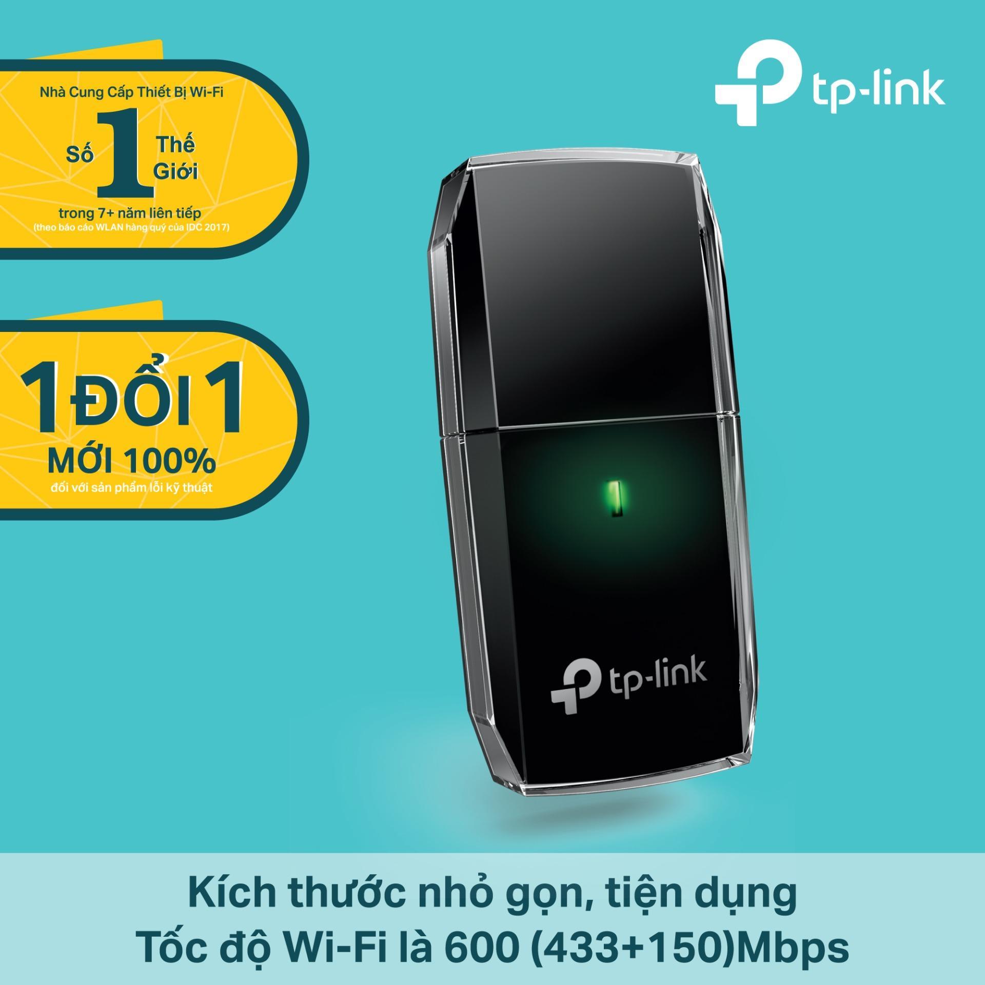 TP-Link – Archer T2U – USB kết nối Wi-Fi Băng tần kép Chuẩn AC 600Mbps-Hãng phân phối chính thức Đang Bán Tại TP-Link
