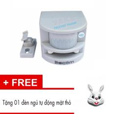 Bộ cảm biến hồng ngoại chống trộm lập HT1A + Tặng 01 đèn ngủ tự động mặt thỏ