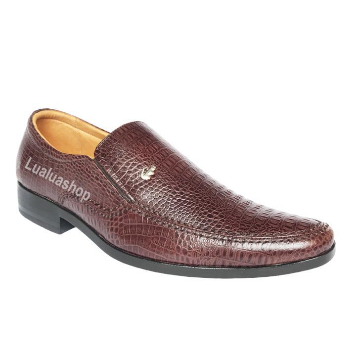 giày tây da thật vân cá sấu mũi nhọn L10