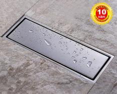 Thoát sàn ngăn mùi (dạng phễu nước) SUS304 (30x11cm) Kiểu dài – Hàng Cao cấp ITALIA