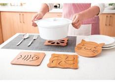 Lót cốc – đĩa chống nóng bằng gỗ tre KamiHome