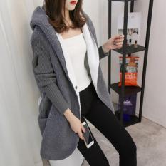 Áo len thu đông lót trong bông phong cách Hàn Quốc LEK005 (Xám)