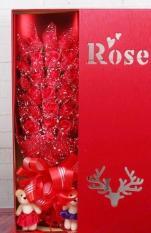 Hoa hồng sáp thơm 33 bông dodiengiasi bền đẹp,tình đậm sâu-Quà tặng dễ thương + tặng 1 bông hồng sáp