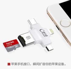 Đầu đọc thẻ 4 trong 1 FAT32 exFAT chân USB, Micro Usb, Type C và Lightning
