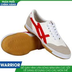 Giày thể thao nam Warrior W27 (Trắng Đỏ)