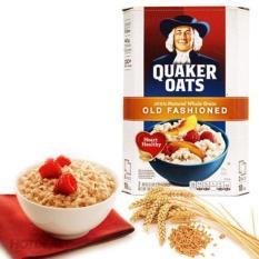 Yến mạch cán dẹt Quaker Oats 100% USA 1KG (Chính hãng)