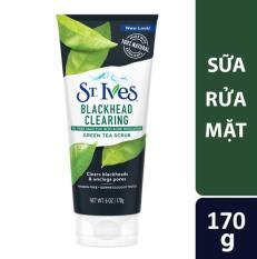 Sữa rửa mặt sạch mụn đầu đen ST.IVES Trà Xanh 170g