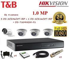 Bộ 4 Camera Hikvision giá rẻ-DS2CE56C0T-DS2CE16C0T-DS7204HGHI-F1