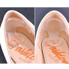 Giá tốt Bộ 2 miếng lót gót giày silicon êm chân (trắng trong) mới