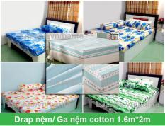Drap nệm, ga nệm cotton bền đẹp 1.6m*2m (giao màu ngẫu nhiên)