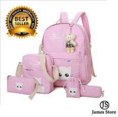 Combo 5 món balo bé gái lớp 1-5 dễ thương James Store JSHS002