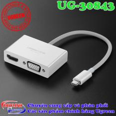 Cáp USB Type C to HDMI và VGA Ugreen – Adapter USB C