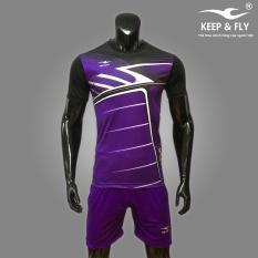 Bộ quần áo bóng đá cao cấp KEEP & FLY Thunder Tím