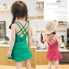 Váy dây chất liệu thun mềm cực yêu dành cho bé