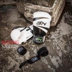 Combo găng tay Boxing + băng quấn tay BN ( Trắng )