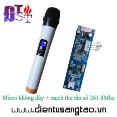 Micro không dây + mạch thu tần số 261.8Mhz