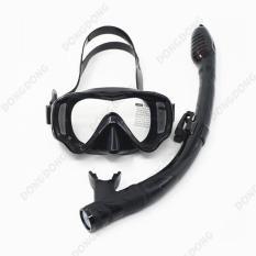 Kính lặn ống thở AMS, mắt KÍNH CƯỜNG LỰC + ống thở van 1 chiều ngăn nước cao cấp – DONGDONG