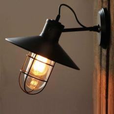 Đèn tường Vintage cổ điển chống bão kèm bóng LED Edision như hình