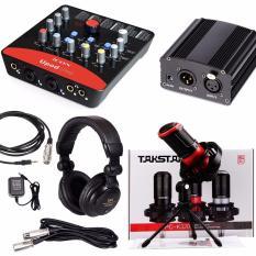 Trọn bộ Karaoke/ Livestream cao cấp hàng đầu hiện nay giúp bạn hát hay như ca sĩ với Sound card Icon Upod Pro kết hợp với Micro Takstar PC-K320 đỉnh cao