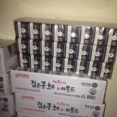 Sữa óc chó hạnh nhân đậu đen Hàn Quốc (Thùng 24 hộp 140ml)