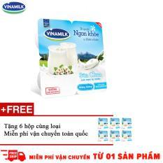 Thùng 48 hộp sữa chua ăn Vinamilk không đường – Tặng 6 hộp cùng loại