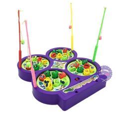 Hộp đồ chơi câu cá nam châm 4 hồ dùng pin có nhạc 9923 – ĐỒ CHƠI CHỢ LỚN