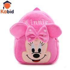 Balo mầm non Kabid bé gái Mickey Minnie ( Hồng size nhỏ)