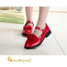 Giày công chúa bé gái đính nơ đỏ giày bé gái kiểu GLG107