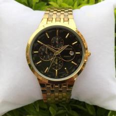 Đồng hồ nam Baishuns dây kim loại xích mạ vàng cao cấp mẫu hot 2018