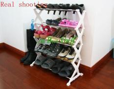 Kệ để giày dép inox hình trám cao cấp 5 tầng tiện dụng