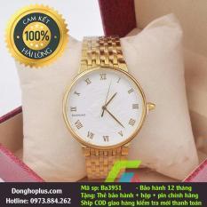 Đồng hồ nam mặt rồng Baishuns vàng trắng: tặng hộp, pin dự phòng hãng