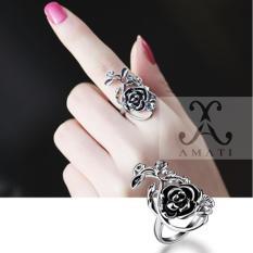Nhẫn nữ hoa hồng lad16