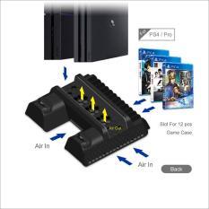 Đế tản nhiệt & sạc tay cầm & kệ đĩa hãng Dobe cho PS4/Slim/Pro (TP4-882)