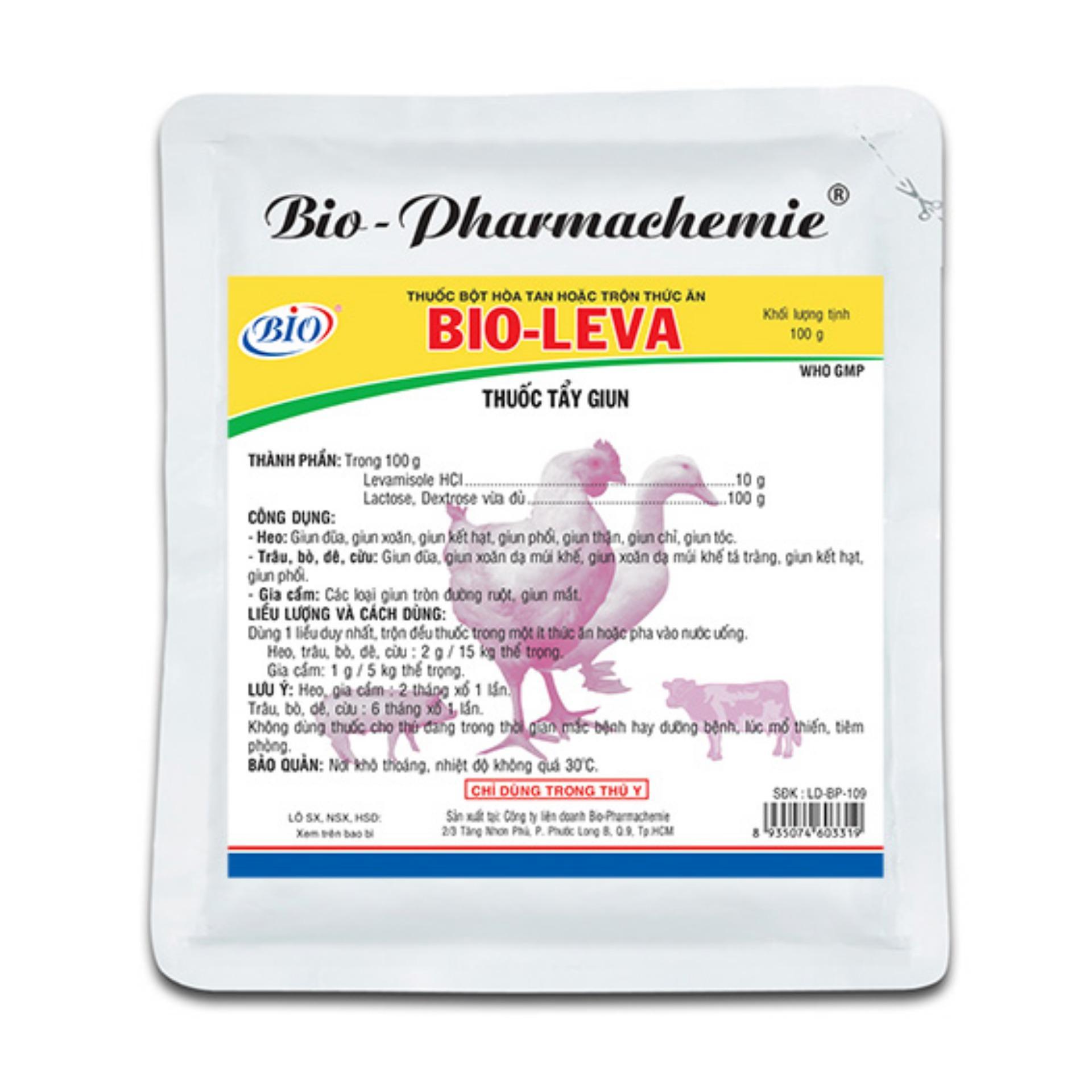 Thuốc sổ giun cho gà – thuốc sổ giun cho chim – sổ sán lãi cho gà chim – Bio leva 10g