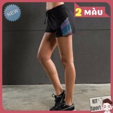 Quần short đùi thể thao nữ Gecko Vansy – Cửa hàng phân phối KIT Sport – Hàng nội địa Trung(Women Short, đồ tập quần áo gym,mẫu ngắn, thể dục,thể hình, Yoga, Aerobic,Zumba Fitness)