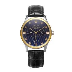 (Cập nhật 2019)Đồng hồ nam thời trang dây da cao cấp Yazole Q09 chạy 6 kim