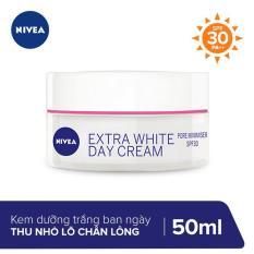 Kem Dưỡng Trắng Da và Thu Nhỏ Lỗ Chân Lông Ban Ngày Nivea Extra White Pore Minimiser Day Cream SPF30 50ml _ 86741