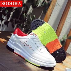 Giày Sneaker thể thao nữ SODOHA shop SN 36HQ89R – Trắng Phối Đỏ