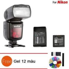 Đèn Flash Godox V860II Cho Nikon (kèm pin và sạc) – Tặng Gel 12 màu
