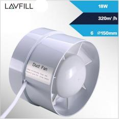 Quạt thông gió lắp đặt đường ống phổ biến nhất thị trường kích thước ống 150 với quạt 6inch