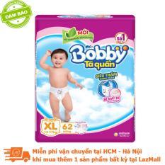 [MỚI] Tã quần Bobby gói cực lớn XL62 (12-17 kg)