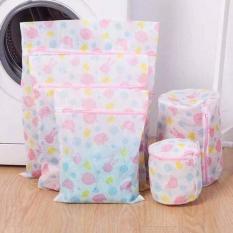 Bộ 5 túi lưới giặt quần áo đủ kích thước loại dày dặn