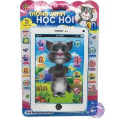 Vỉ đồ chơi Máy tính bảng mèo Tom Cat 3D thông minh dùng pin có nhạc(nhiều màu)