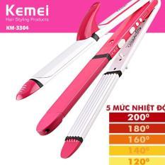Máy làm tóc 3in1 điều chỉnh nhiệt Kemei KM-3304