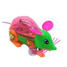 Đồ chơi chuột đèn bằng nhựa chạy bằng dây cót