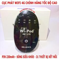 Bộ phát wifi từ sim 3G/4G ZTE WD670 4G lTE – Phiên bản Plus (Đen)