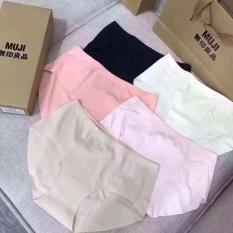 Hộp 5 quần lót đúc nữ không đường may Muji – Nhật(kèm túi xách)