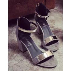 Giày sandal dây khóa cao gót 5p MYS