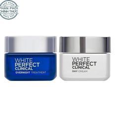 Bộ kem dưỡng trắng và giảm thâm nám chuyên sâu ngày và đêm L'Oreal Paris White Perfect Clinical 50ml